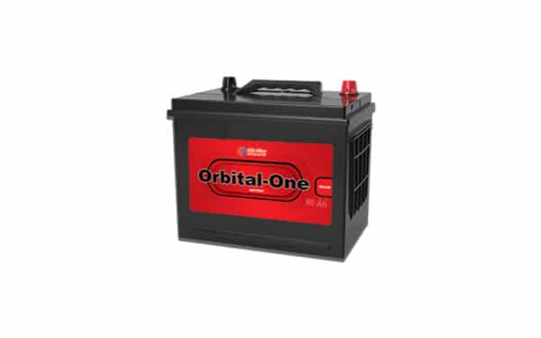باتری 60 آمپر پایه بلند قطب مخالف اوربیتال وان قرمز نمایندگی فروش باطری سپاهان